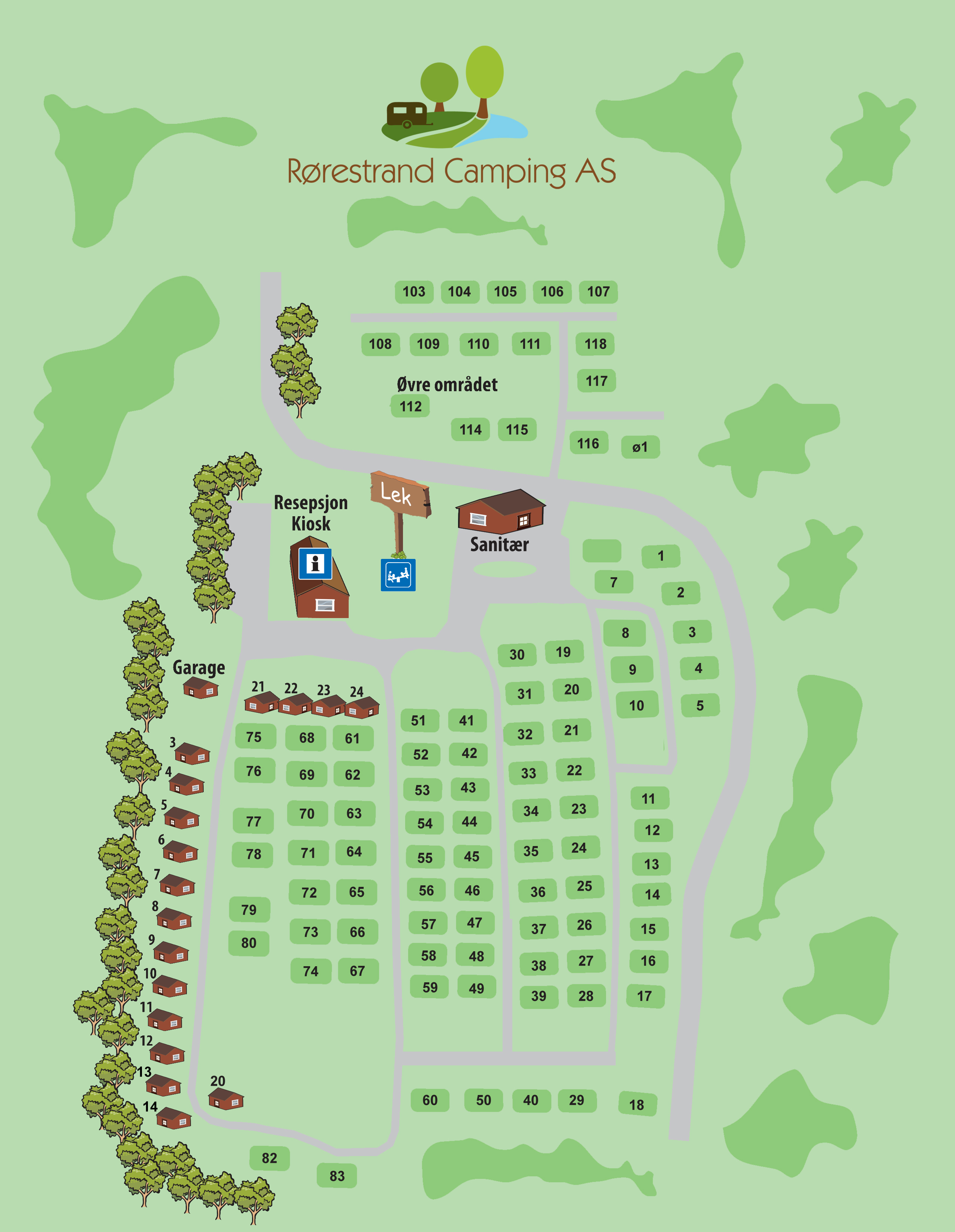 kart med campingplasser About The Campsite | Rørestrand Camping kart med campingplasser